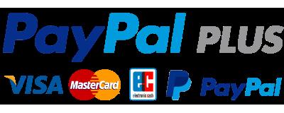 PayPal, Lastschrift, Kreditkarte,  Kauf auf Rechnung.