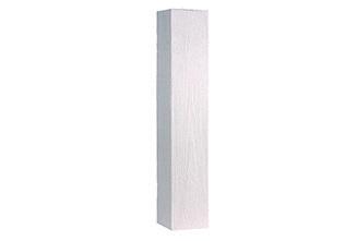 BisoART Lignum-Line Palisade in Holzoptik Weiß