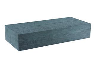 BisoART Lignum-Line Blockstufe in Holzoptik Grau